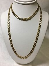 "14K Solid Yellow Gold Link Chain Necklace 25"" - 5mm - 19.9"