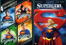SUPERMAN 1-2-3-4+ Supergirl- Christopher Reeve- Helen Slater- 5 Film- NEW DVD