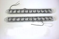 2- 15 inch 11 LED Slim Line White Back up light Solar Reverse cargo