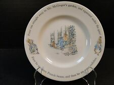 """Wedgwood Peter Rabbit Salad Plate """"Under the Gate"""" 8"""" EXCELLENT!"""