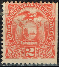Ecuador Country Coat of Arms Eagle Flags classic stamp 1880 MLH