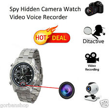 Spy Wrist Watch Hidden Camera Recorder Video Voice 16GB Steel Strap Night Vision