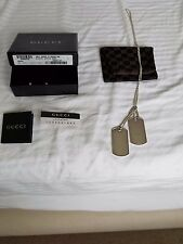 Gucci Dog Tags Sterling Silver Necklace 24""