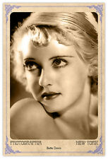 Screen Legend Bette Davis Vintage Photograph A++ Reprint Cabinet Card CDV