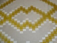 "REMNANT ROMO EMBROIDERED DANTON Sunflower MOD UPHOLSTERY FABRIC 20"" x 78"""