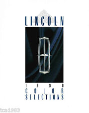 1990 LINCOLN Paint COLOR Chip CHART Brochure: CONTINENTAL /MARK 7 VII/ TOWN CAR