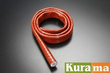 """1m 3.3ft Fire Sleeve Braid Flame Heat Shield 5/8"""" 15.9mm ID for AN-6 Fuel Hose"""