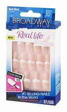 Kiss Broadway Nails Real Life French Nail Kit, 24 Count, New