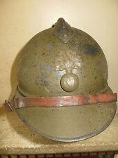 Rare casque ADRIAN modèle 1915 de la Légion Etrangère,peinture kaki.1 ère Guerre