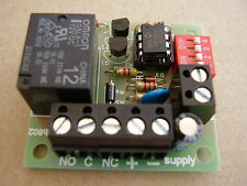 Timer relay board adjustable 10 - 100 minutes (in 10 minute steps)