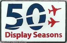 OFFICIAL ROYAL AIR FORCE RED ARROWS 50 DISPLAY SEASONS LIMITED EDITION PIN