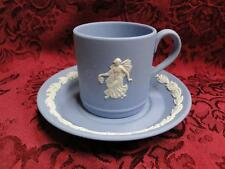 Wedgwood Jasperware, Cream Scene on Lavender Blue: Demitasse Cup & Saucer Set
