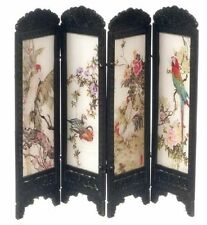 Dollhouse Miniature Chinese Floor Screen with Birds