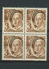 Germany 1947 Sc# 8N2 Wurttemberg France 3pf Friedrich Holderlin block 4 MNH