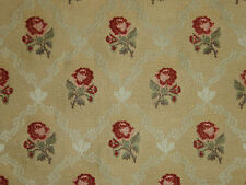 "ZOFFANY CURTAIN FABRIC DESIGN ""Rosa"" 13 METRES GOLD WOVEN FABRIC"