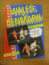 09/09/1987 Wales v Denmark [At Cardiff City] . Item in very good condition, unle