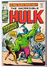 MARVEL Comics HULK VOL 2 Issue 3 FN+ 6.5  KING SIZE ANNUAL1970