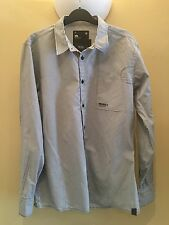 Genuine Men's G-star Raw Shirt Size S Worn Twice Striped Long Sleeve Excellent