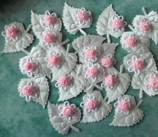 Satin Appliques-leaf roses Crafts Cardmaking Scrapbooking Sewing Embellishments