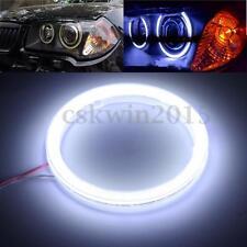 90mm Outside COB Chip LED Angel Eye Light Headlight Halo Ring Aperture 6000K