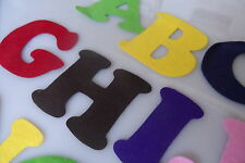 Felt Alphabet letters - multi color 7.5cm, craft, classroom, education, kids art
