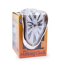 Salvador Dali Style Novelty The Melting Shelf Sitting Clock Modern Silver