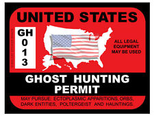 Ghost Hunting Permit - United States (Bumper Sticker)