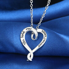 """You Hold My Heart Forever"" Engraved Pendat Necklace Girl Friend Love UNO"