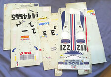 Lot of 9 partially unused Tamiya RC car decal sheets - original vintage 80s