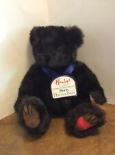 "Hamleys Boris Plush Jointed Black Bear Heritage Collection London UK 15"" NWT"