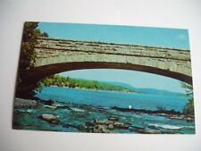 AMERICAN LEGION SUMMER CAMP BOG RIVER FALLS BRIDGE TUPPER LAKE NEW YORK POSTCARD