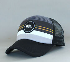 New Auth Quiksilver Men's YOUTH Striped Vee Ball Hat Snapback Cap Surf Tarmac