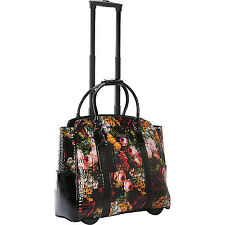 "Cabrelli Rachel Rose Rolling 15"" Laptop Case Women's Bag Wheeled Briefcase"
