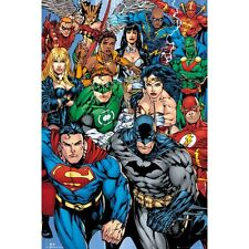 DC SUPERHEROES Poster - Justice League Comics Full Size Print ~ Superman Batman