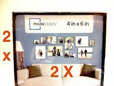 "2 x Mainstays 4"" X 6"" Black Photo Frame / With Snap out Glass"