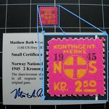 Norway Nazi NASJONAL SAMLING stamp/NS-1945-CERTIFIED-MNH-Xrare-Norwegian revenue