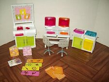 Barbie Size Dollhouse Furniture- Computer Room Office Equipment Printer Chair