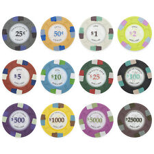 New Bulk Lot of 600 Poker Knights 13.5g Clay Casino Poker Chips - Pick Chips!