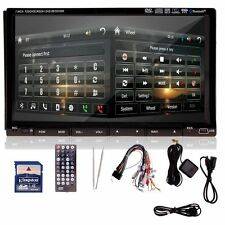 """Doppio 2DIN 7 """"LCD lettore DVD di navigazione GPS IPOD Bluetooth RDS TV CA11"""