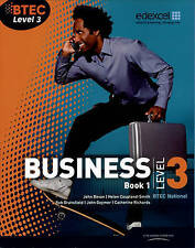 BTEC LEVEL 3 NATIONAL BUSINESS STUDENT BOOK 1 EDEXCEL ACTIVITIES CASE STUDIES