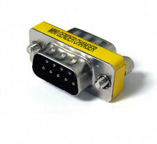 RS232 DB9 9 Pin Male To Male Gender Changer Adapter M-M Converter SGC-9MM