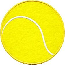Tennis Ball iron-on / sew-on cloth patch  (cv)