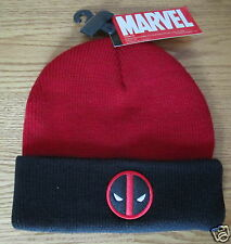 Deadpool Wade Wilson X-Men Winter Ski Hat Marvel Comics Brand New - RED