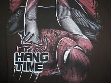 """The Amazing Spiderman Movie """"Hang Time"""" Super Hero Brown Graphic T Shirt - M"""