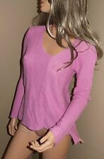 EILEEN FISHER Long Sleeve Asymmetrical Linen Knit Top Sweater Shirt  M May Fit L