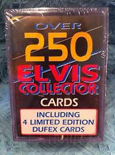 NEW ELVIS OVER 250 ELVIS COLLECTOR CARDS INCLUDING 4 LIMITED EDITION DUFEX CARDS