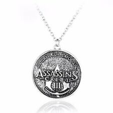 COLLANA ASSASSIN'S CREED III 3 - LOGO - Ezio Necklace Connor Kenway Ciondolo
