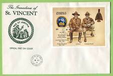St Vincent/Grenadines 1991 Korea Jamboree Baden Powell  M/S on First Day Cover
