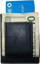 Men's Leather Money Clip, Credit card/ID holder, wallet with magnetic money clip