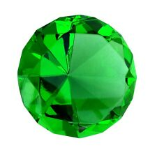 Big 60mm Emerald Green 60 mm Cut Glass Crystal Giant Diamond Jewel Paperweight